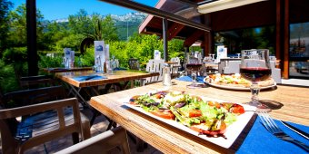 assiette restaurant lac bleu
