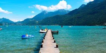 amarrage bateau lac bleu